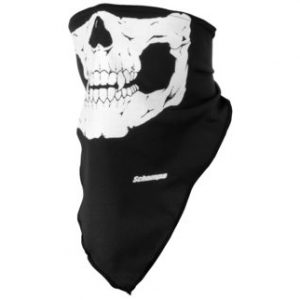 Schampa Black Traditional Skull Lightweight Facemask for Wind and Sun Protection VNG008